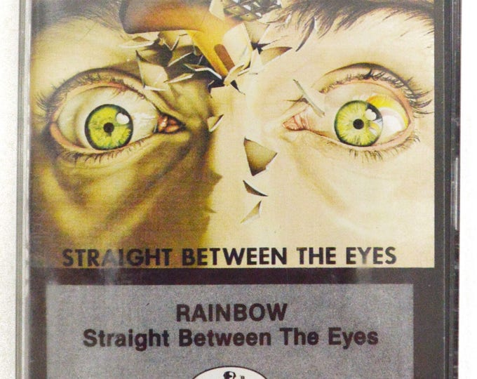 Vintage 80s Rainbow Straight Between the Eyes Hard Rock Album Cassette Tape