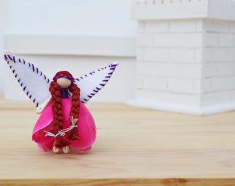 Waldorf Fairy Doll - waldorf fairies, miniature fairy doll, miniature fairies, mini fairy doll, mini fairies, flower fairy doll, OOAK doll