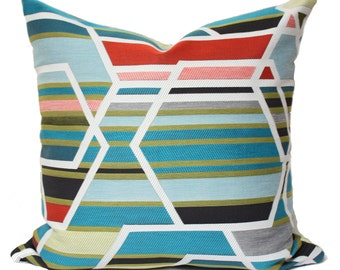 Maharam Agency Unique pillow cover, multicolor pillow cover, modern pillow covers, geometric pillow covers, designer pillow cover
