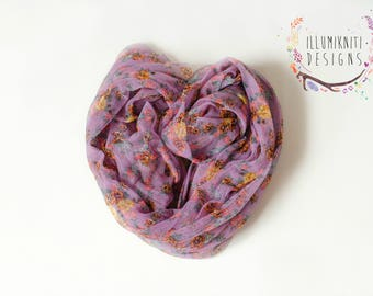 Newborn Stretch Wrap - Newborn Floral Wrap - Newborn Vibrant Wrap - Newborn Girl Wrap - Stretch Newborn Wraps - Photography Prop Wraps - RTS