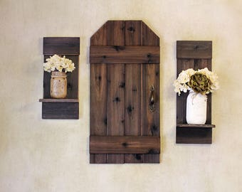 Rustic Barn Door, Mini Barn Door, Wood Shutters, Rustic Wall Decor, Rustic Shutters, Farmhouse Decor, Barn Door, Wall Hangings, Wood Shutter
