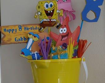 SpongeBob Centerpiece - Birthday Party Centerpiece - SpongeBob Party Decoration - Sponge Bob Party - Party Table Top