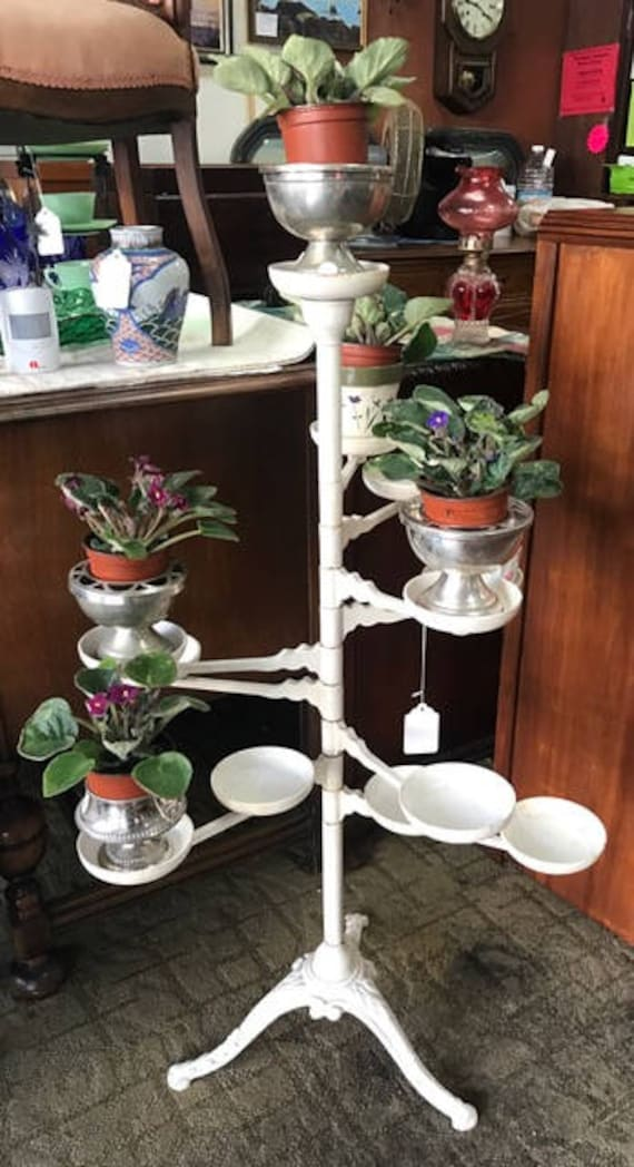 Victorian plant stand metal with swing arms