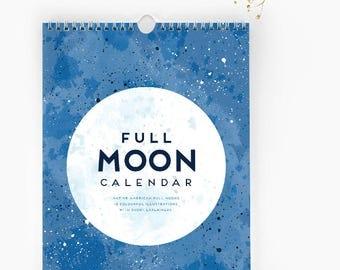 Full MOON Calendar  |  2018 Wall Calendar