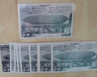 Akron Blimp Zeppelin postcard new old stock collection vintage lot