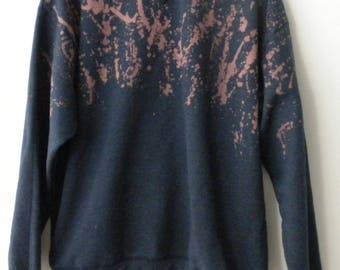 Blue Sweatshirt, Tie Dye Sweatshirt, dip dye crewneck sweatshirt, acid wash, sweater, sweatshirt, Splatter, Pink, Graphic, fireworks