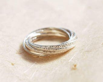Unique wedding ring etsy unique wedding ring sterling silver interlocked ring intertwined ring russian wedding ring junglespirit Choice Image