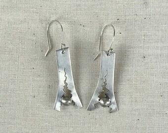 Torn Silver Earrings