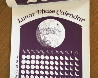 Purple 2018 Lunar Phase Calendar in Royal Purple