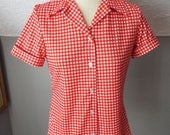 Vintage Short Sleeve Blou...