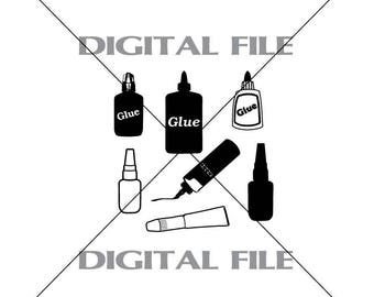 Seven Glues Vector Images SVG Files Digital Cutting Files  Ai - Eps - PNG - DXF - Svg