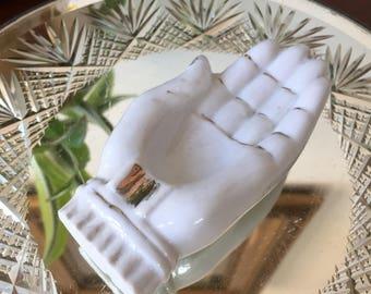 Ceramic Hand Ring Dish/ Ash Tray Made In Japan