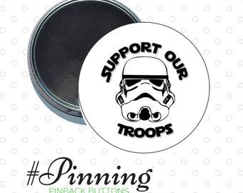 Support Our Troops Magnet Star Wars Inspired Refrigerator Magnet