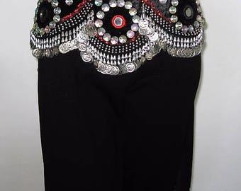 Gypsy belt, Tribal belt, Tribal belly dance belt, Belly dance belt, Belly dancing, Tribal gypsy fusion belt, Coin belt, Burning Man