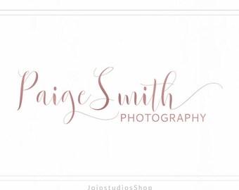 Rose Gold Logo Branding, Script Logo Design, Feminine Logo, Logo Design Branding, Handwritten Logo Design Photography, L129