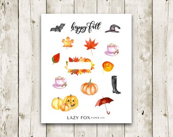 Fall Halloween | Deco Stickers | Halloween Stickers | Fall Stickers