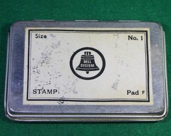 Vintage Bell System Size No.1 Ink Stamp pad.