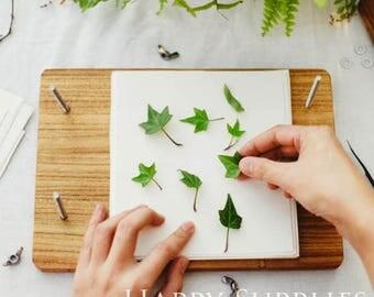 Flower Press Kit / Custom DIY Dry Plant Tools / Personalized Wood Pressed Board Wedding Embossed Device  / Making Dry Leaves Flowers