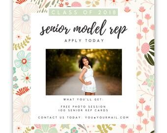 Senior Model Call Template, Senior Photography Template, Senior Rep - photography marketing template