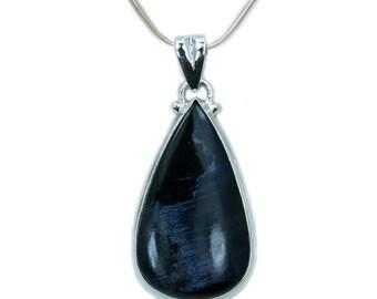Blue Velvet Pietersite Necklace Pietersite Pendant 925 Sterling Silver Pendant AF857