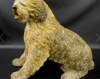 Vintage Sheepdog Shop Display 1930's -40's composite statue/Dog Statue/Pet Store Display/Home Decor/Vintage dogs/
