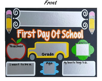 First Day Of School, Back To School Sign, School Sign, First Day Sign, Kindergarten Sign, Back To School, First Day Board, 1st Day Of School