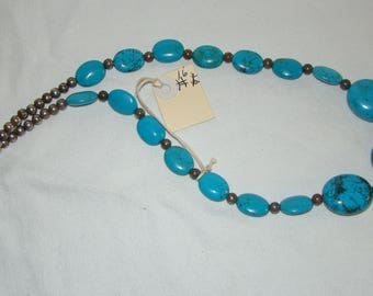 T-16 Native American Necklace Turquoise stones