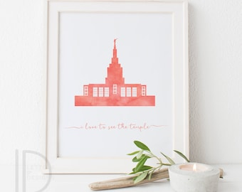 Idaho Falls Temple - LDS Temple art - Customizable - Printable