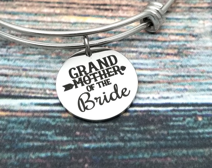 Grandmother of the Bride Customizable Expandable Bangle Charm Bracelet, choose your charms, create your style, design your bracelet,