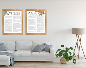 The Living Christ and The Family Proclamation Printable Set, 8x10, 16x20, 20x30, Modern LDS Proclamation and Living Christ, LDS Art