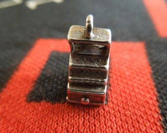 Sterling Cash Register Charm Vintage Cash Register Charm Sterling Silver Charm for Bracelet from Charmhuntress 05093