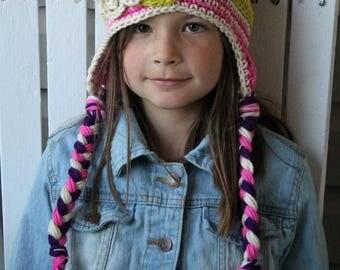 Crochet Flower Hat, Girl Hats, Baby Hats, Children Hats, Flower Beanies, Girl Beanies, Kids Hats,  Photo Prop, Spring Summer Fashion