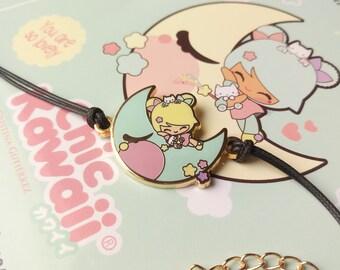 Chic Kawaii moon charm bracelet Sweet dreams