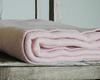 Pure Wool blanket for Children Light Pink Wool blanket Pure wool throws Wool throw 39''X55''/100X140cm Perfect gift for babygirl