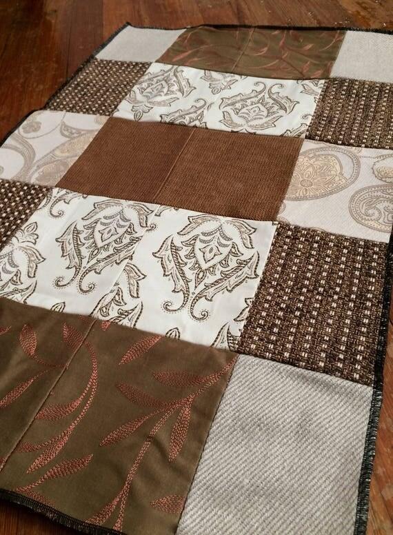 Brown + Beige Patchwork Rug