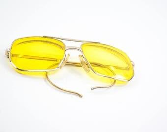 Vintage Men's Glasses - Comet Eyeglasses - 14K Gold filled - Gift For Him - Aviator Glasses - 1940's glasses - Vintage Jewelry