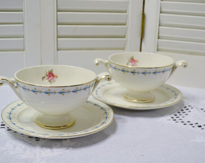 Vintage Harmony House Mount Vernon Sugar Bowls Bread Plates Dishes Blue Pink Floral Hall China USA Panchosporch