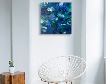Deep blue Contemporary artwork Blue modern wall art Textured art decor Original Abstract painting Modern textured art Blue wall art