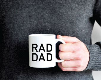 Dad Coffee Mug - Rad dad Coffee Mug - dad gift - husband gift -  fathers day gift