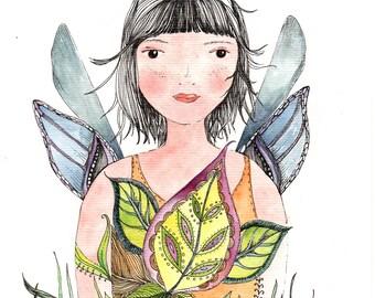 fairy No 2, water color print