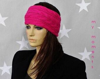 HEADBAND / Hairband Merino pink