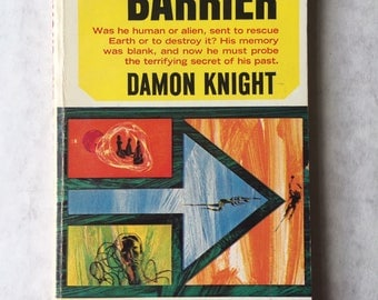 BEYOND THE BARRIER by Damon Knight 1965 Science Fiction paperback Richard Powers