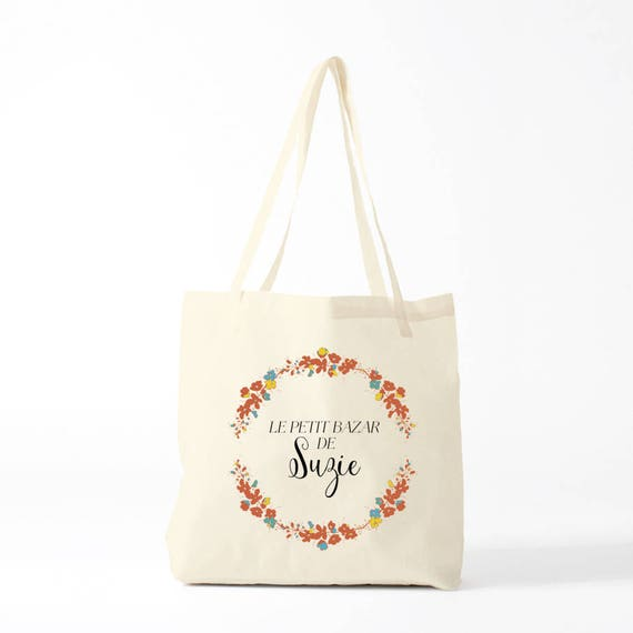 Canvas bag, Custom tote, Suzie model, The name you want, groceries bag, gift coworker, novelty gift, gift sister, canvas bag.