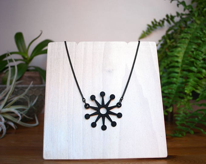 """Astro"" Necklace in Black"