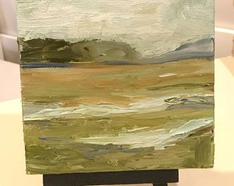 Landscape mini (oil painting with easel)
