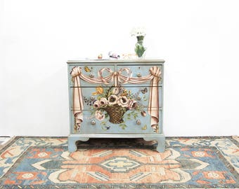 Floral Painted English Chest