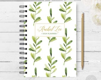 2018 Monthly Planner #32 - Hardcover - Coil Bound - Tabbed - Weekly Planner - Daily Planner