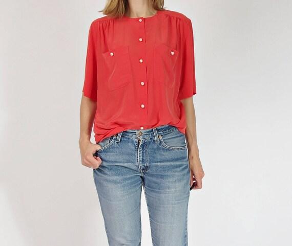 80s Marco Pecci Couture button down womens shirt top / size M/L