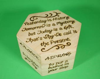 Little box of Healing - Personalised wooden trinket or keepsake box, get well soon gift, thinking of you gift