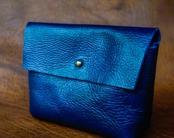 The Wedding Clutch in lapis blue / leather handbag / leather bag  / elegant clutch